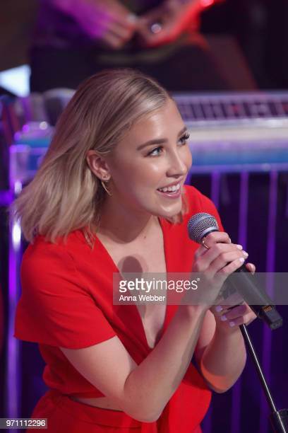 Madison Marlow of Maddie Tae performs onstage in the HGTV Lodge at CMA Music Fest on June 10 2018 in Nashville Tennessee