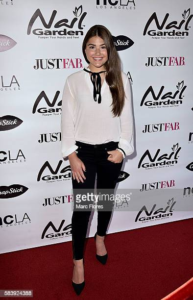 Madison Moore arrives at the 10 Year Anniversary with Beauty for a Cause Summer Toy Drive at Nail Garden on July 26 2016 in Studio City California