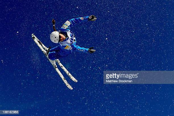 Madison Olsen jumps in the qualification round for the Ladies' Arrials during the Visa Freestyle International FIS Freestyle World Cup at Deer Valley...