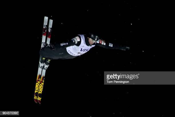 Madison Olsen of the United States competes in the Ladies' Aerials Finals during the 2018 FIS Freestyle Ski World Cup at Deer Valley Resort on...