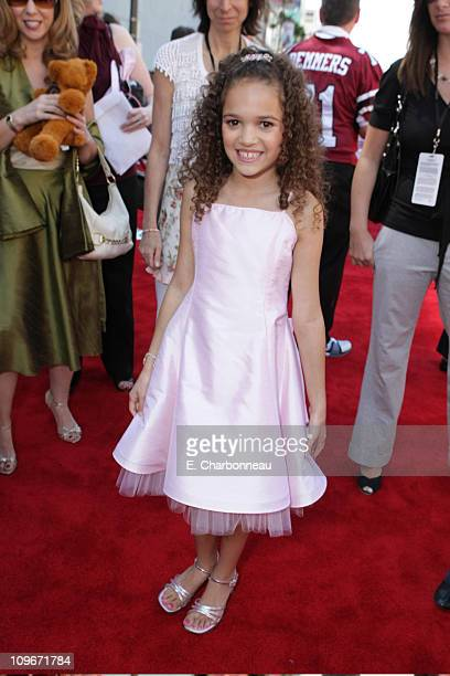 Madison Pettis at the World Premiere of Walt Disney Pictures' The Game Plan at the El Capitan Theatre on September 23 2007 in Hollywood California