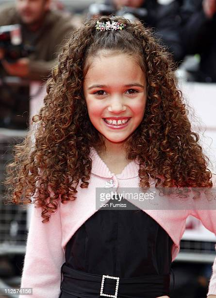 Madison Pettis attends The Game Plan premiere held at the Odeon Leicester Square on March 2 2008 in London England