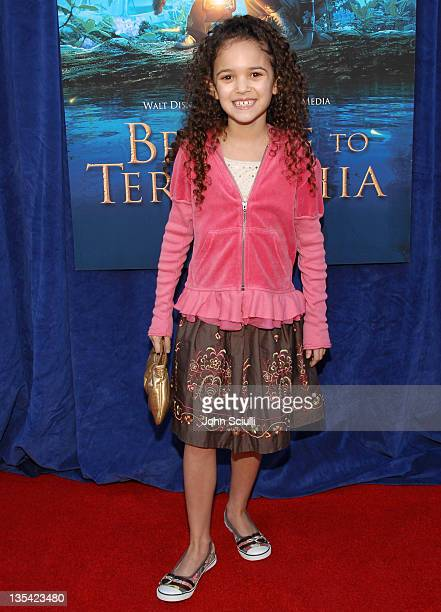 Madison Pettis during Bridge to Terabithia Los Angeles Premiere Arrivals at El Capitan Theater in Hollywood California United States