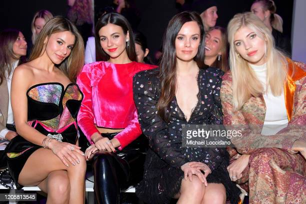 Madison Reed Victoria Justice Madison Guest and Devon Windsor attend the Raisavanessa front row during New York Fashion Week The Shows at Gallery I...