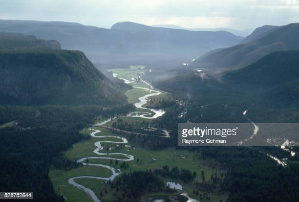 madison river valley in wyoming - 20世紀 ストックフォトと画像