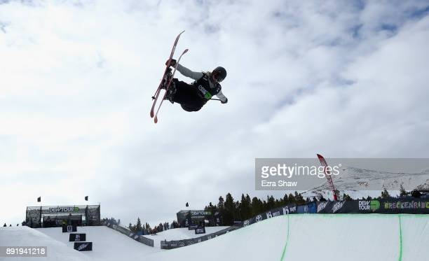 Madison Rowlands of Great Britain competes in the women's Ski Superpipe qualification during Day 1 of the Dew Tour on December 13 2017 in...