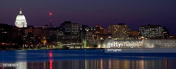 Madison skyline at night (panorama)