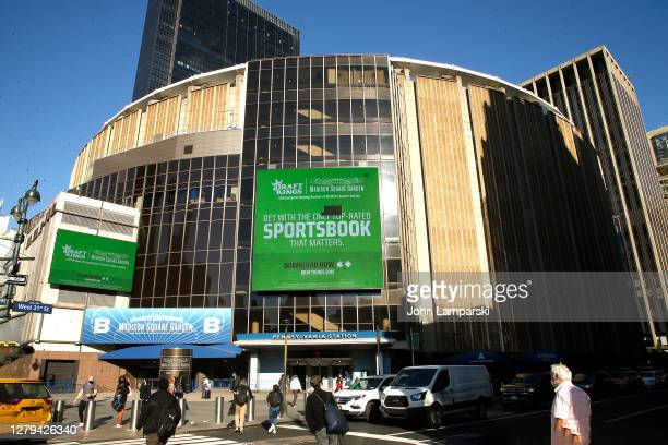 Madison Square Garden is seen on October 09 2020 in New York City This is a multipurpose indoor arena is located atop the Penn Station