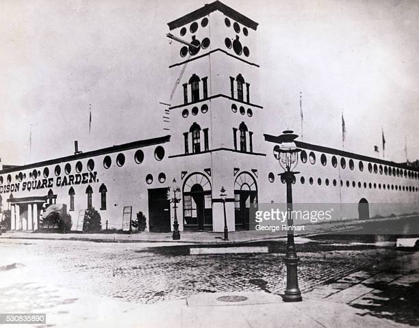 Madison Square Garden of 1880 and built by P T Barnum in 1874 is shown at 26th Street and Madison Avenue It was demolished in 1889