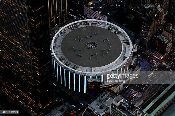 Madison Square Garden photographed from above on December 30 2014 in New York City