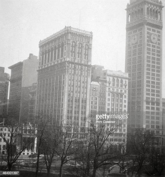 Madison Square New York City USA 20th century The tall skyscraper on the right is the Metropolitan Life Insurance Company Tower Designed in NeoGothic...