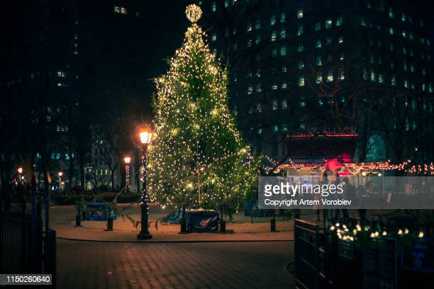madison square park at christmas time - chelsea new york stock pictures, royalty-free photos & images
