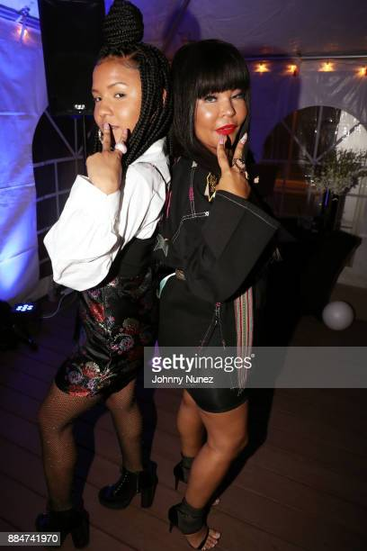 Madison Star Brim and Misa Hylton attend the Misa Hylton MHFA Fundraiser For Hurricane Relief at A Loft Long Island City on December 2 2017 in New...
