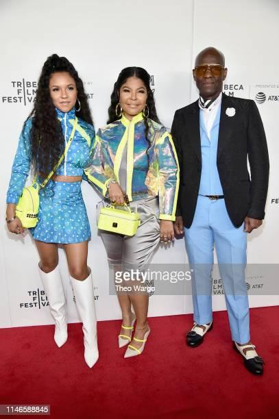 Madison Star Brim Misa Hylton Brim and Dapper Dan attend the premiere of The Remix Hip Hop x Fashion at Tribeca Film Festival at Spring Studios on...
