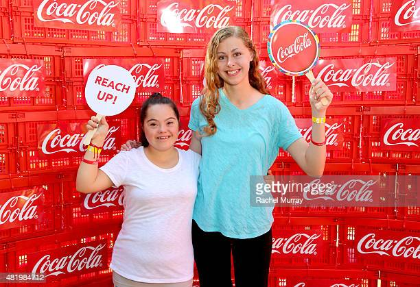 Madison Tevlin and Bree Bogucki arrive to open the 2015 Los Angeles Special Olympics World Games by performing the CocaCola Unified song Reach Up...