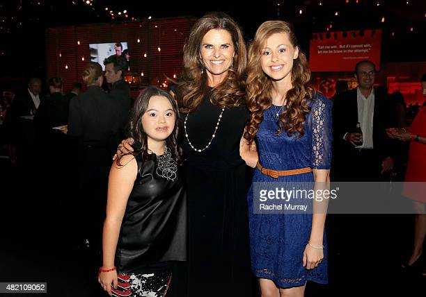 Madison Tevlin, Maria Shriver, and Bree Bogucki attend 'Coca-Cola and ESPN Celebration Of The Human Spirit Of Eunice Kennedy Shriver' at the Special...