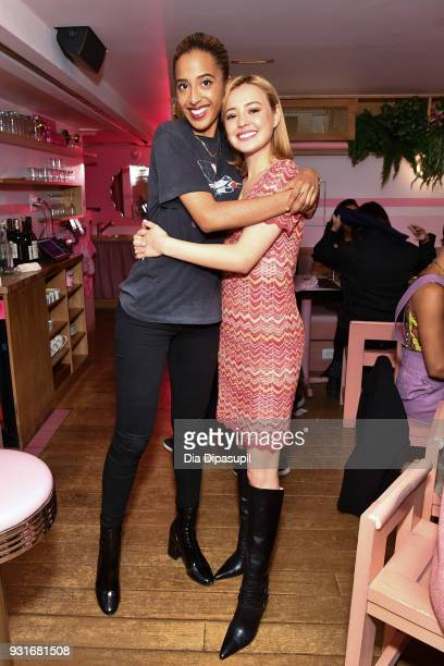 Madison Utendahl and Eileen Kelly attend the Trans Awareness Dinner at Pietro Nolita on March 13 2018 in New York City