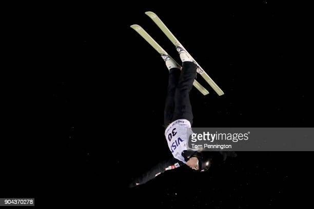 Madison Varmette of the United States competes in the Ladies' Aerials Finals during the 2018 FIS Freestyle Ski World Cup at Deer Valley Resort on...