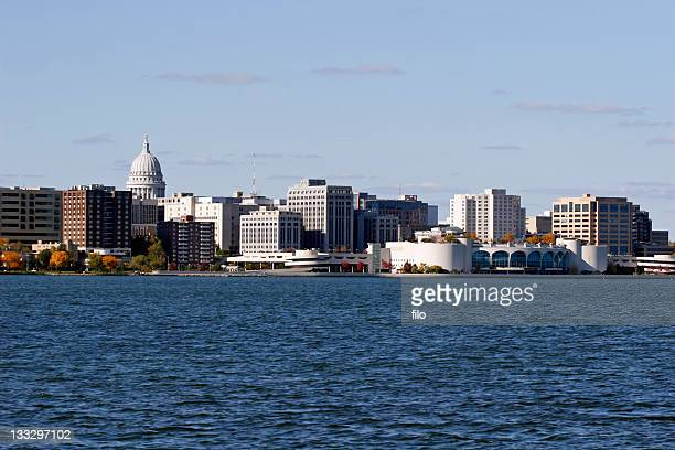 madison wisconsin skyline - madison wisconsin stock pictures, royalty-free photos & images