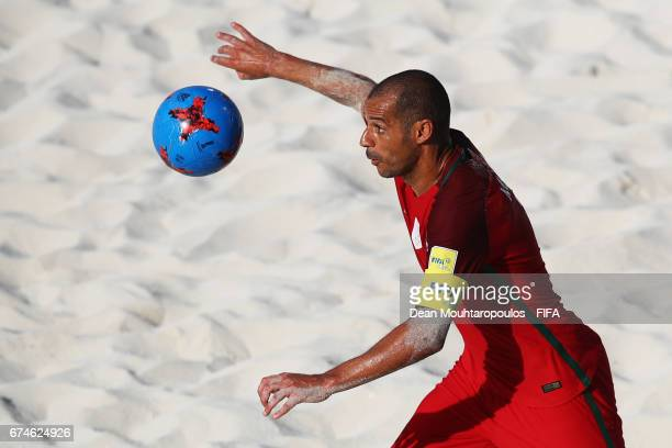 Madjer of Portugal in action during the FIFA Beach Soccer World Cup Bahamas 2017 group C match between Portugal and Panama at National Beach Soccer...