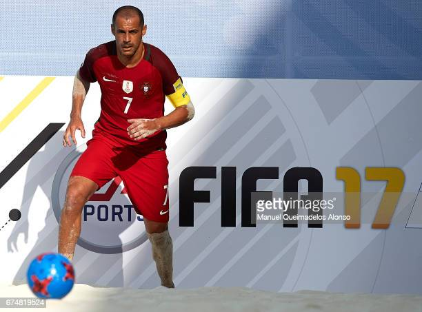 Madjer of Portugal in action during the FIFA Beach Soccer World Cup Bahamas 2017 group C match between Portugal and Panama at Bahamas Beach Stadium...