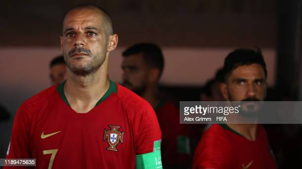 Madjer of Portugal looks on in the players tunnel prior to the FIFA Beach Soccer World Cup Paraguay 2019 group D match between Portugal and Nigeria...