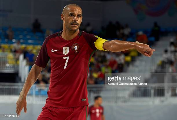 Madjer of Portugal reacts during the FIFA Beach Soccer World Cup Bahamas 2017 group C match between United Arab Emirates and Portugal at National...