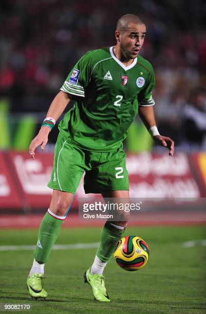 Madjid Bougherra of Algeria during the FIFA2010 World Cup qualifying match between Egypt and Algeria at the Cairo International Stadium on November...
