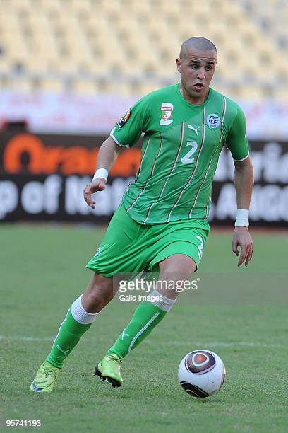 Madjid Bougherra of Algeria in action during the African Cup of Nations group A match between Malawi and Algeria at the November 11 Stadium on...