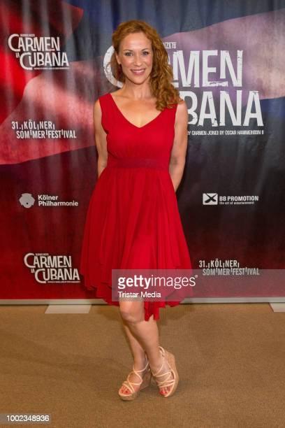 Madlen Kaniuth attends the 'Carmen la Cubana' Musical premiere on July 19 2018 in Cologne Germany Kristina Yantsen