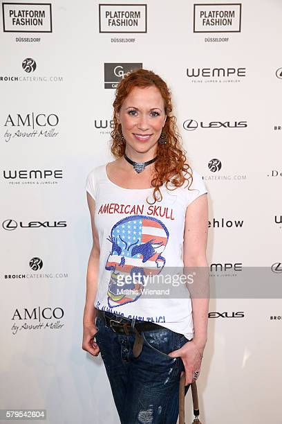 Madlen Kaniuth attends the Platform Fashion Selected show during Platform Fashion July 2016 at Areal Boehler on July 24 2016 in Duesseldorf Germany