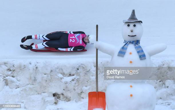Madlen Loss of Austria competes in Women's Singles Competition second run in luge during day 8 of the Lausanne 2020 Winter Youth Olympics at St...