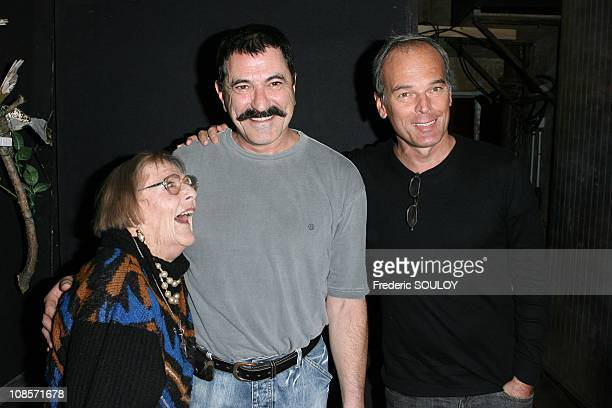 Mado Maurin JeanMarie Bigard and Laurent Baffie in Paris France on October 20 2008