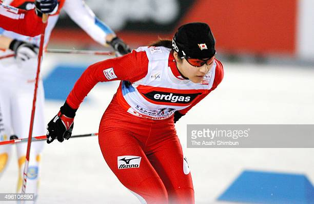 Madoka Natsumi of Japan competes in the Women's Cross Country Skiing Individual Spring Classical during day one of the FIS Nordic World Ski...