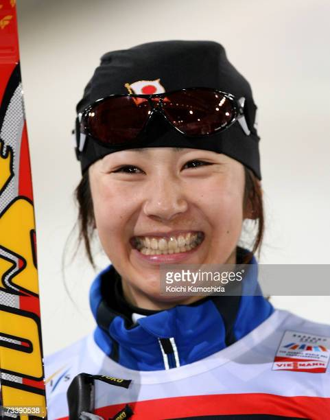 Madoka Natsumi of Japan smiles after the Women 1 km Sprint Classical Event during the FIS Nordic World Ski Championships 2007 on February 22 2007 in...