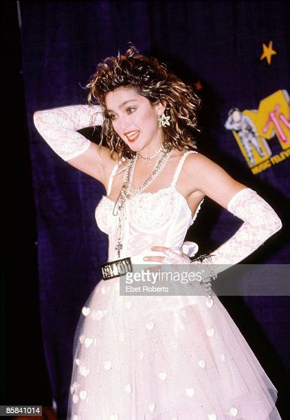 Photo of MADONNA Madonna after the 1st MTV Music Awards