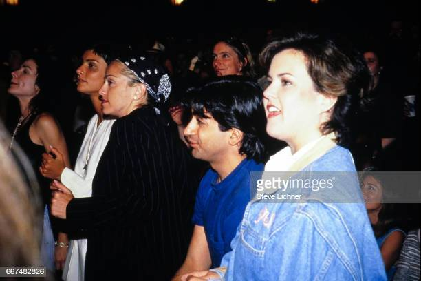 Madonna Alek Keshishian Ingrid Casares and Rosie O'Donnell at Lifebeat benefit at Baecon Theatre New York New York June 24 1994