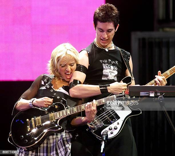 Madonna and bassist/keyboardist Stewart Price perform during the first of two soldout shows at the MGM Grand Garden Arena during her Drowned World...