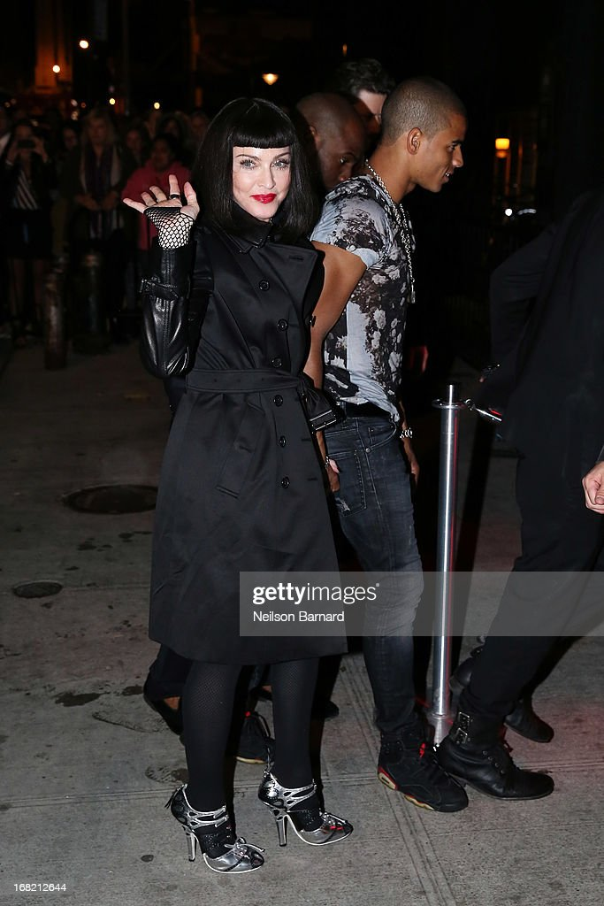 Madonna and Brahim Zaibat attend the 'PUNK: Chaos To Couture' Costume Institute Gala after party at The Standard hotel on May 6, 2013 in New York City.
