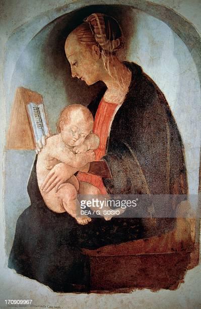 Madonna and Child ca 1498 attributed to Raphael fresco 97x67 cm Santi House Urbino Marche Italy