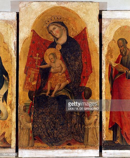 Madonna and Child detail from a polyptych Madonna and Child with Saints by Paolo Veneziano Church of San Martino Chioggia Veneto Italy 14th century