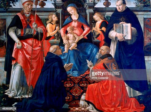 'Madonna and Child enthroned with the Saints' 1483 St Dionysius Aeropagita Domenic Clement and Thomas Aquinas Found in the collection of the Galleria...