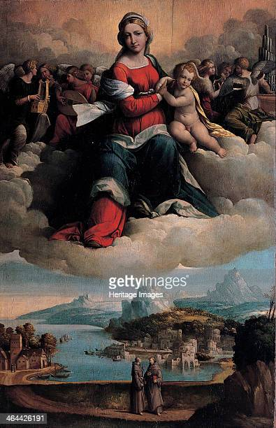 Madonna and Child in glory with the saints Anthony of Padua and Francis 1530 Found in the collection of the Musei Capitolini Rome