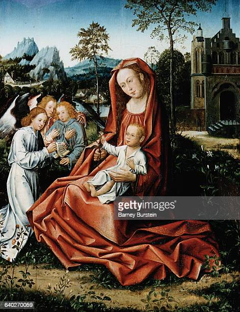 Madonna and Child with Angels by the Master of Frankfurt