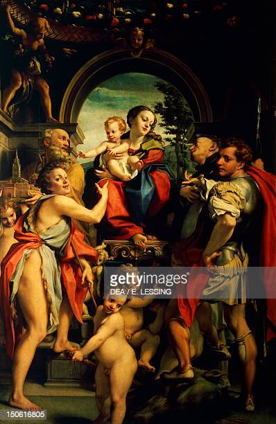 Madonna and Child with St George ca 1530 by Antonio Allegri known as Correggio oil on canvas 285x190 cm