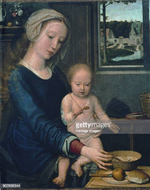 Madonna and Child with the Milk Soup Found in the Collection of Musei di Strada Nuova Genoa