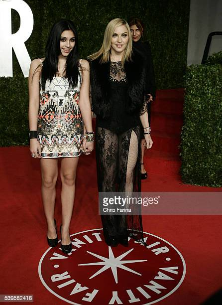 Madonna and daughter Lourdes arrive at the 2011 Vanity Fair Academy Awards Oscars® Party at Sunset Tower Hotel in West Hollywood