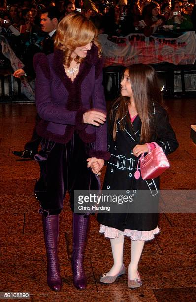 Madonna and daughter Lourdes arrive at the World Premiere of Harry Potter And The Goblet Of Fire at the Odeon Leicester Square on November 6 2005 in...
