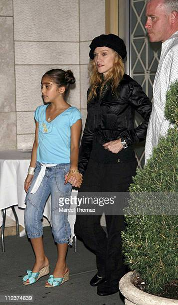 Madonna and daughter Lourdes Ciccone during Madonna and Children Sighting at Kabbalah Services in New York City July 14 2006 in New York New York...
