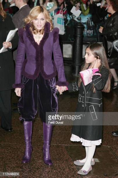 Madonna and daughter Lourdes Leon during 'Harry Potter and the Goblet of Fire' World Premiere Arrivals at Odeon Leicester Square in London United...